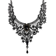Fashion Goth Necklaces For Women 2016 Beauty Girl Handmade Jewerly Retro Vintage Lace Necklace Collar Gothic Choker Necklace(China (Mainland))