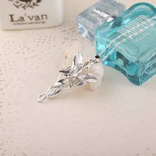 2015 Lord Of The Rings Elf Princess Arwen Evenstar Pendant Alloy Evening Star Torque Movie Jewelry