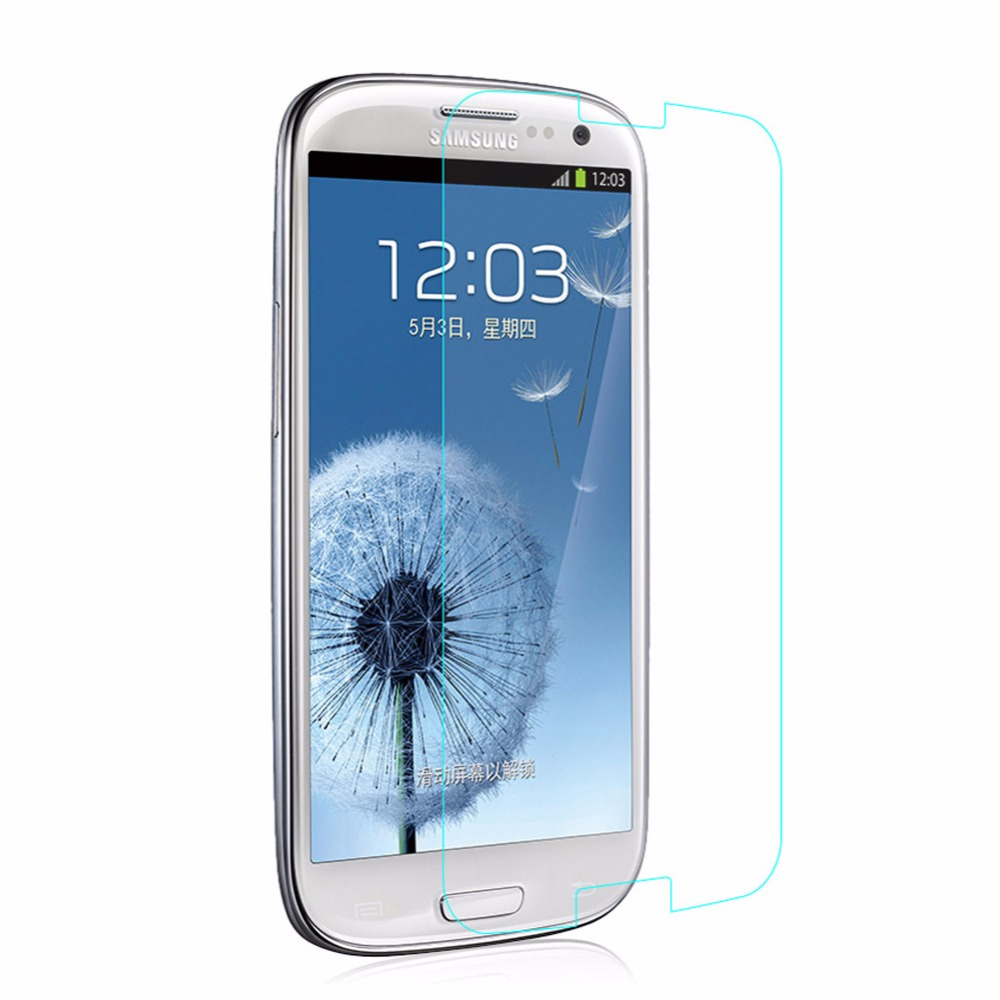 2016 Newest 9H 0.3mm Ultra slim Tempered Glass Screen Protector Film For Samsung Galaxy S3 i9300(China (Mainland))