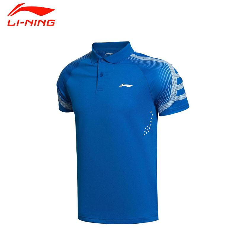 Li-Ning Men's Badminton Shirts Breathable Quick Dry T-Shirts Lining Match Sports Training Tops Li Ning Tennis Clothing AAYK095