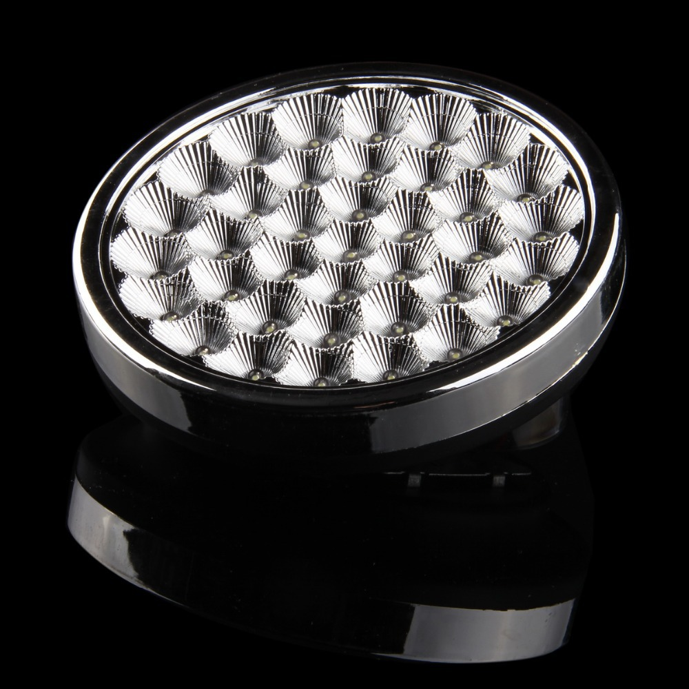 POSSBAY New Hot 37 SMD GT691 5W LED ABS Car Ceiling Dome Roof Interior Atmosphere Light Lamp On/Off Switch Car Interior Lights(China (Mainland))