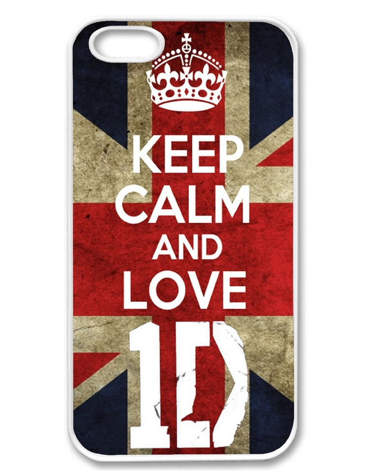 Wholesale 10pcs/lot Keep Calm And Love One Direction UK Flag Custom Hard Plastic Mobile Phone Case Cover For Iphone 4 4S 5 5S 5C(China (Mainland))