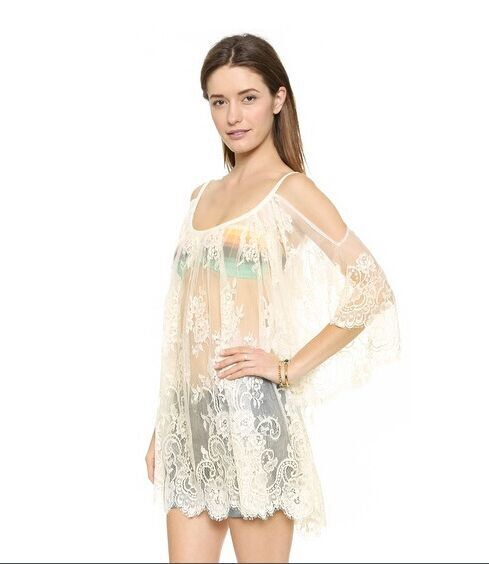 S m l women boho floral lace hippie party beach dress