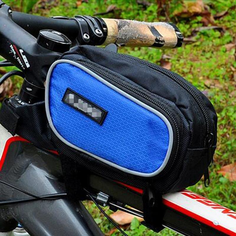 New Arrival MTB Bicycle Bike Frame Saddle Bag Waterproof Multifunctional Large Capacity Front Bag(China (Mainland))
