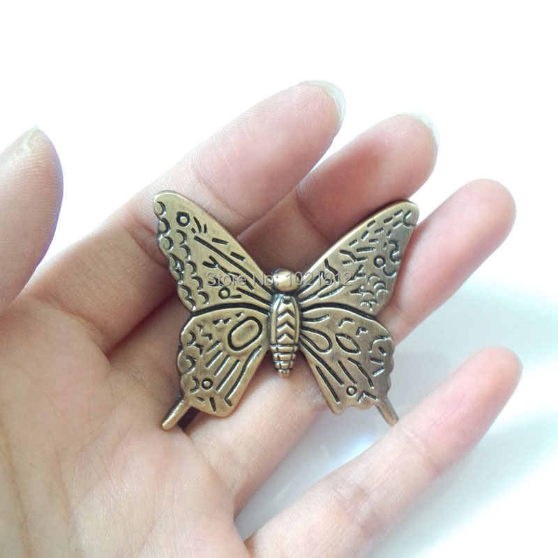 10pcs Antique Bronze Butterfly Cabinet Handle Knob Drawer Pull Closet Drawer Door Hardware Kitchen Pull(China (Mainland))