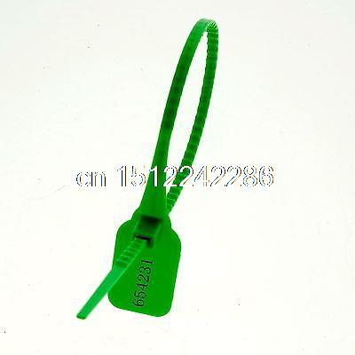 (20)Green 360mm Plastic Lead/Label Ribbon/Seal Used Container Dual-Locking 1 Use(China (Mainland))
