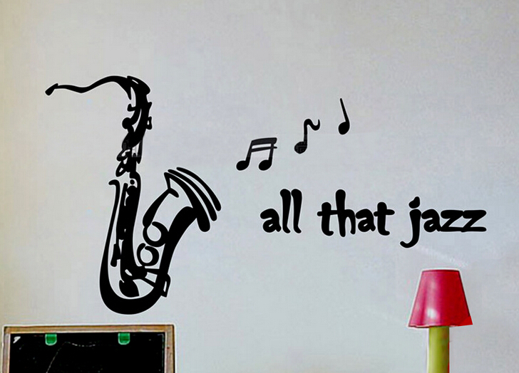 LH347 all that jazz Kindergarten Music Studio music symbol dance children's room Removable Rooms Wall Adhesive home decor wall(China (Mainland))