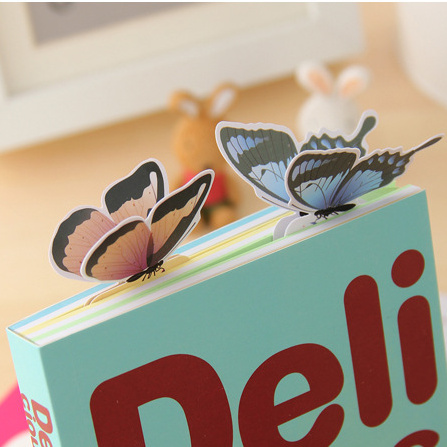 5pcs/lot 3D Butterfly Bookmark Style Teacher's Gift Book Marker Stationery Gift Realistic Domestic Collection Write Bookmark(China (Mainland))