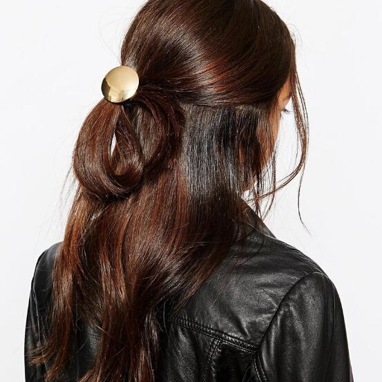 New Fashion Style Alloy Circular Smooth Headdress Girls Woman Hair Band Hair Rope(China (Mainland))