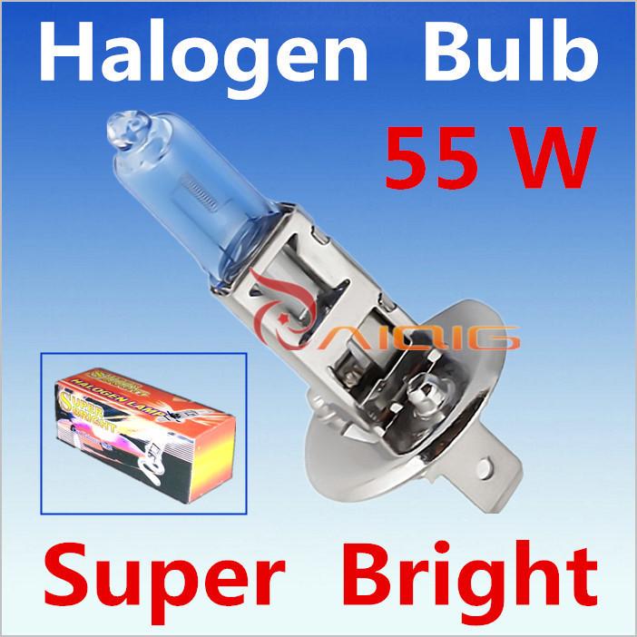 2pcs H1 12V 55W Super Bright White Fog Halogen Bulb Car Headlight Lamp Parking External Lights