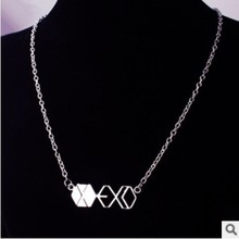 Fashion Jewelry Silver Charm EXO Pendant Necklace For Men And Women,original factory supply(China (Mainland))