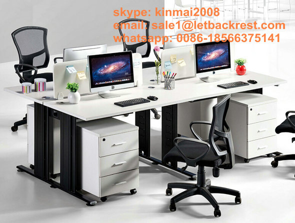 4 Seats Office Computer table Modern Office Desks four People Wood Computer Workstation(China (Mainland))