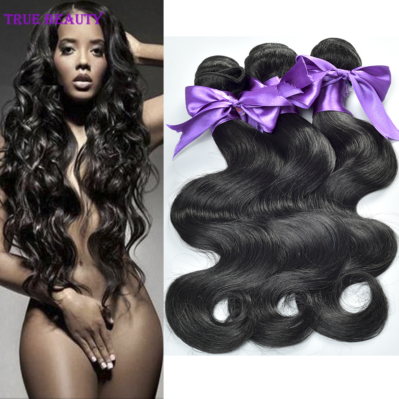 brazilian virgin hair unprocessed body wave cheap hair 100% natural black hair extension bundles 3pcs human hair weave full ends