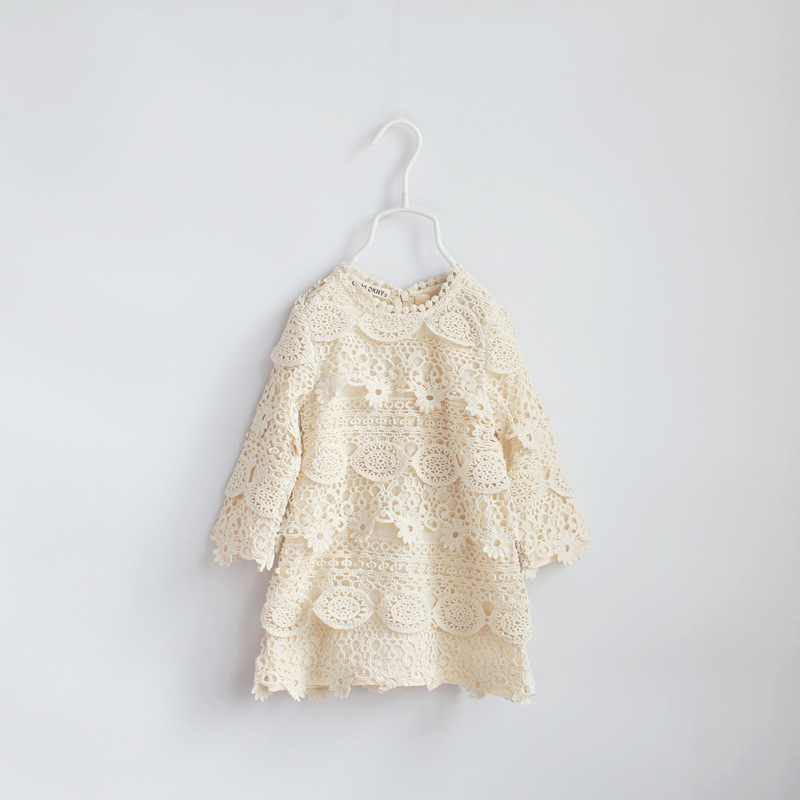 2016 spring summer girls lace crotchet dress children dresses wholesale<br><br>Aliexpress