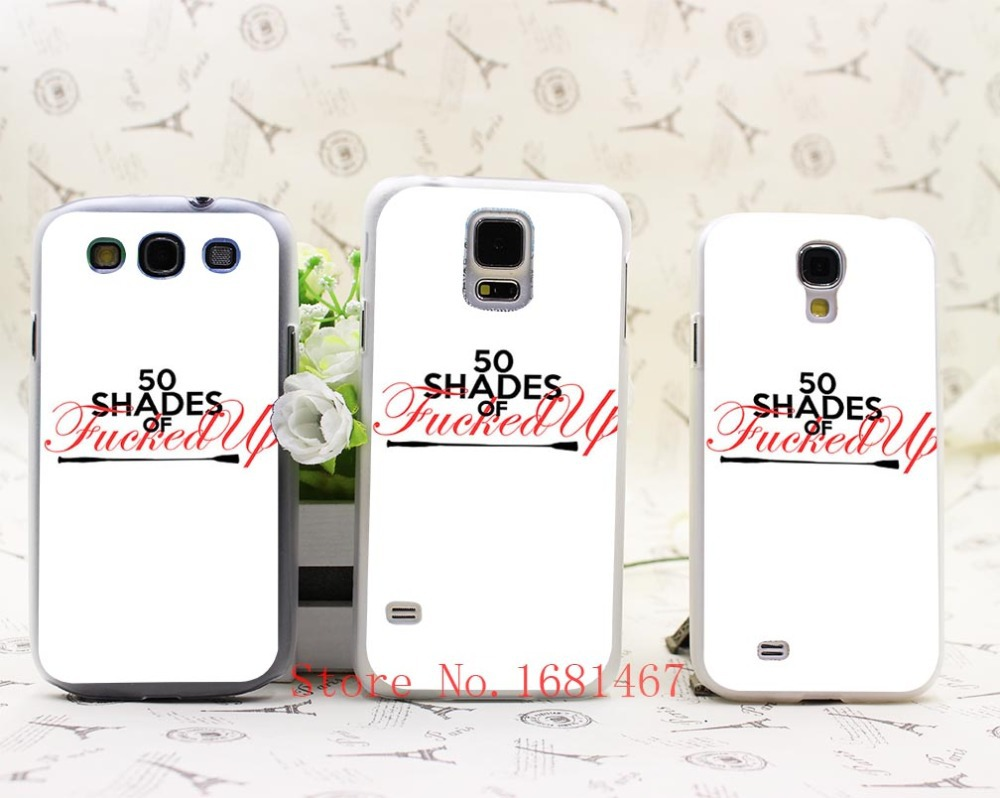 Drop shopping custom design 50 Shades Silicon Soft white Hrad Style Case Cover for Samsung Galaxy S5 S4 S3 I9600 I9500 I9300(China (Mainland))