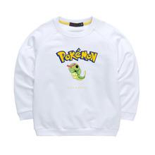 Children Clothes Pokemon Caterpie Hoodie Girls Boys Sweatshirt Pokemon Go Kids T-shirt Hooded Long Sleeve Hoodies