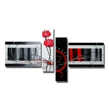 Buy Chinese Painting Abstract Flower Wall Pictures Hand Made Oil Painting Canvas Living Room Decor High Artwork for $30.03 in AliExpress store