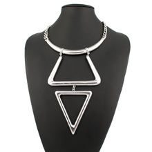 Vintage Geometry collection unique statement pendants necklace fashion 2 color boho Tibet national style for women jewelry(China (Mainland))
