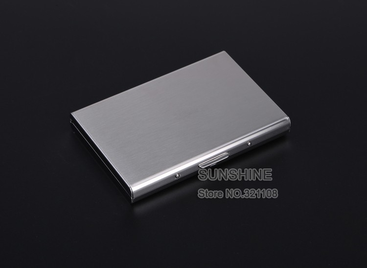 EASTNIGHTS 2016 new arrival High-Grade stainless steel men credit card holder women metal bank card case card box TW2703