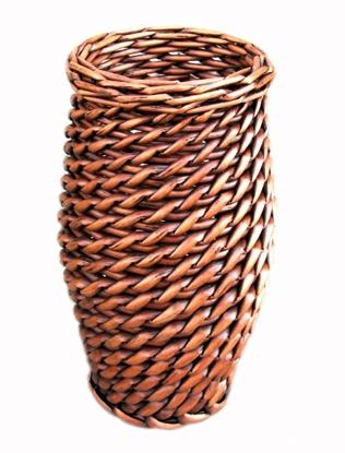 100% Manual made Natural Rattan Vase Antique style handmade Rattan Jardiniere Decorative Vase load dry flower(China (Mainland))