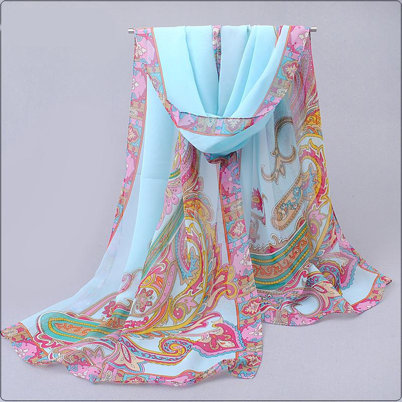 New Fashion Style Scarves Women's Scarf Long Shawl Spring Silk Pashmina Chiffon Scarf 18 Colors Designer Head Pashmina Shawl(China (Mainland))