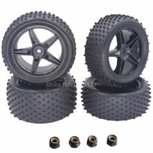 Buy 4 Pieces Front & Rear Buggy Tyres Wheels 12mm Hex 1/10 RC Car Fit HSP STORMER 94105 Redcat Shockwave Nitro Buggy for $6.90 in AliExpress store