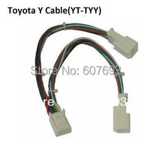 Autoaux  Small splitter y cable(6+6 pin adapter) audio tuning for CD changer port occupied by Navigation or XM fit toyota lexus(China (Mainland))