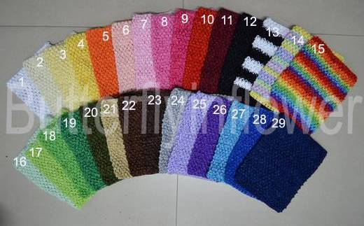 "Baby girls cute top 9"" crochet tube tops,headband halter tops dhl free shipping  In Stock -48pcs/lot"