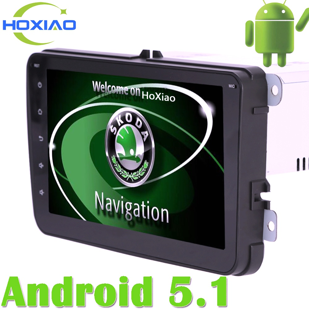 For Golf Skoda Android 5.1 Gps Auto Radio 2 Din Car DVD Player 8 Inch to Fabia Octavia Yeti Volkswagen POLO PASSAT Seat Tiguan(China (Mainland))