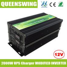 Queenswing модифицированная синусоида инвертор постоянного тока переменного тока 12 В 220 В 2000 Вт с ибп зарядное и цифровой дисплей ( QW-M2000UPS )