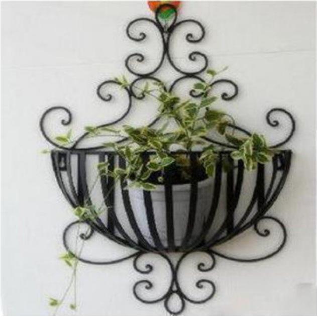 C Iron flower garden style wall basket Wall basket shelf racks spot(China (Mainland))