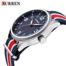Relogio Masculino New CURREN 8195 Quartz Watch Men Brand Luxury Wristwatches Men Auto Date Military Leather