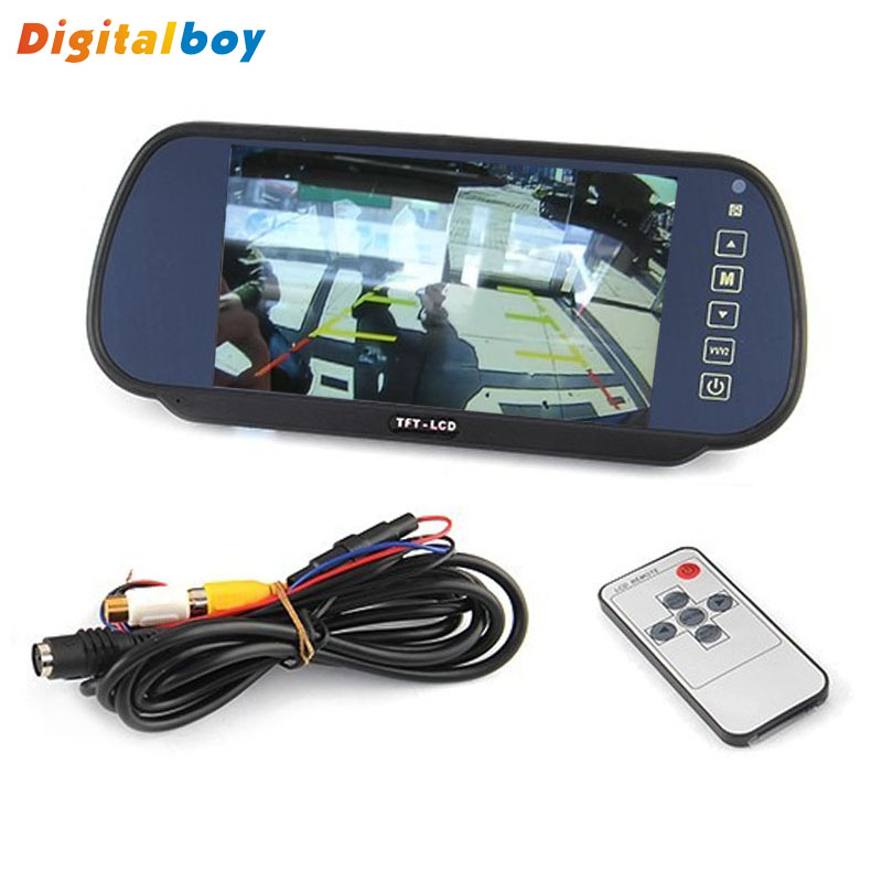 New Promotion 7 Inch Color TFT LCD Widescreen Touch Button Car Rearview Mirror Monitor Car Parking Reverse Rear View Monitor()