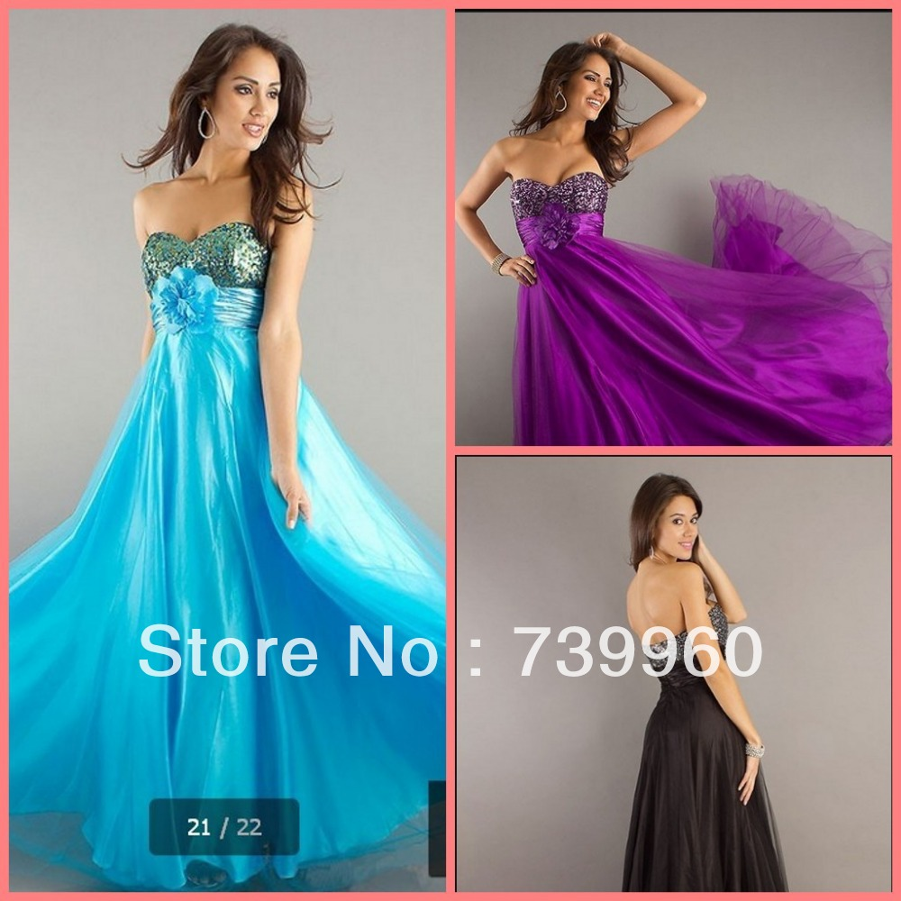 2014 Free Shipping - Strapless Pleated Beading Sequined Crystal Empire Maternity A Line Sweetheart Neckline Prom Dresses(China (Mainland))