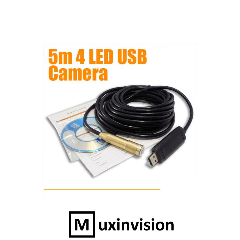 5M Waterproof USB Inspection Pipe Digital Camera Endoscope Cam Borescope(China (Mainland))