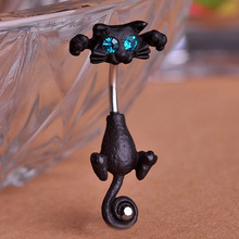 Jet Cat Vintage Piercing Jewelry Fashion Women's Body Piercing Belly Button Rings Women Navel Percing Accessories Pircing Woman