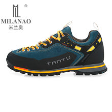MILANAO 2017 Man Waterproof Breathable Hiking Shoes Big Size Outdoor Boots Trekking Sport Sneakers Men Waterproof Shoes(China (Mainland))