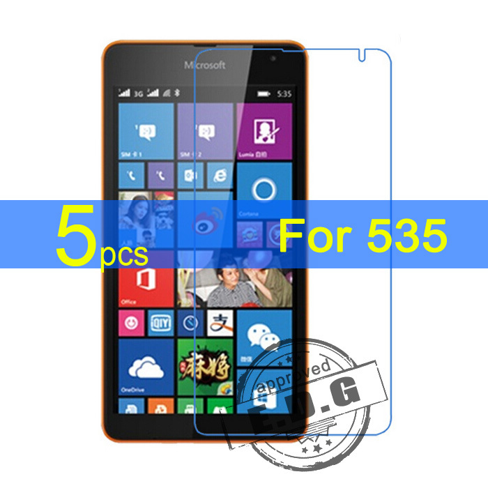 5pcs Gloss Ultra Clear LCD Screen Protector Film Cover For Microsoft Nokia Lumia 535 1089 1090