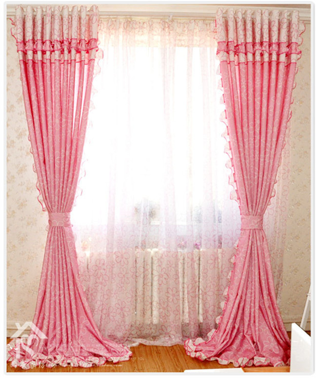 Free shipping textiles bedroom curtains children 39 s curtain for Curtain designs for girls bedroom