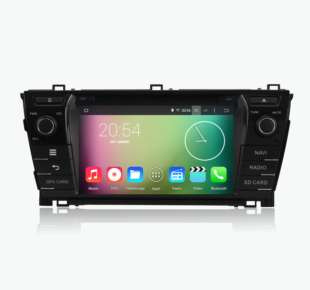 """Android 4.4.4 HD 1024*600 Quad core 1.6GHz CPU Nand Flash 16GB 8"""" Car DVD player For TOYOTA Corolla 2013 2014 2015(China (Mainland))"""