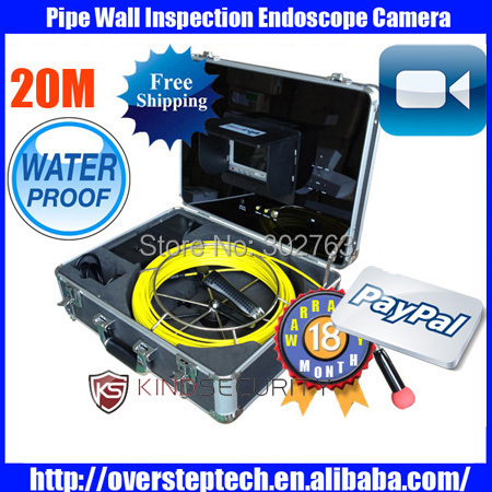 20m pipe endoscope camera,pipe inspection cctv camera,Sewer detection system,Tube wall detection system,Industrial endoscope(China (Mainland))