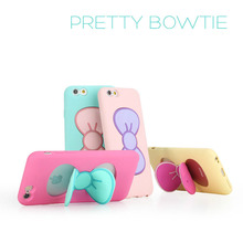 2016 Case Samsung Galaxy A7 Candy Color Lovely 3D Butterfly Slim Stand Holder Bow Soft TPU Silicon Cover Capa - MYFRCOS Store store