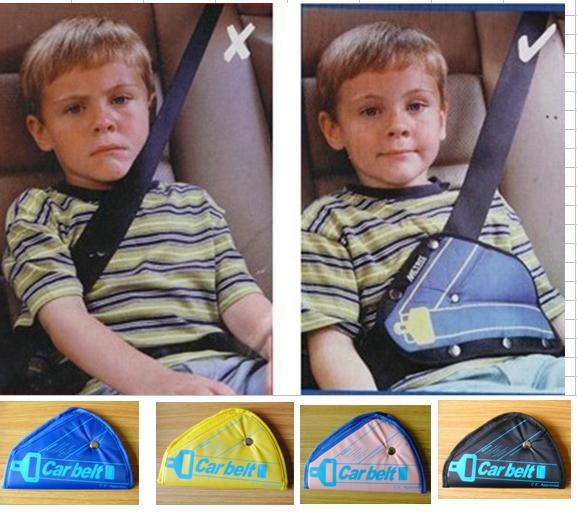 Free Shipping Safe fit thickening car safety belt adjust device baby child safety belt protector seat belt positioner 2-5 years(China (Mainland))