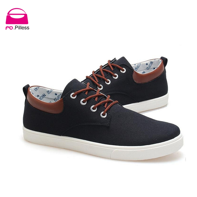 The spring of 2016 new men's canvas shoes lace fashion shoes Korean British solid men's casual shoes(China (Mainland))