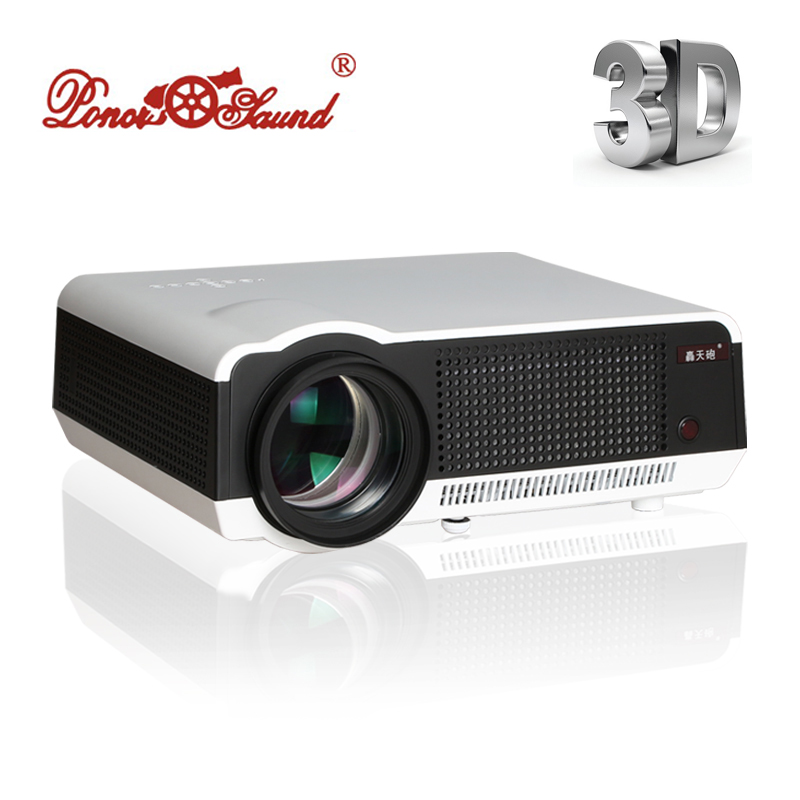 Free Shipping Newest Full HD 1080P 5500Lumens Led Digital Smart 3D Projector Perfect For Home Theater Full HD Proyector(China (Mainland))