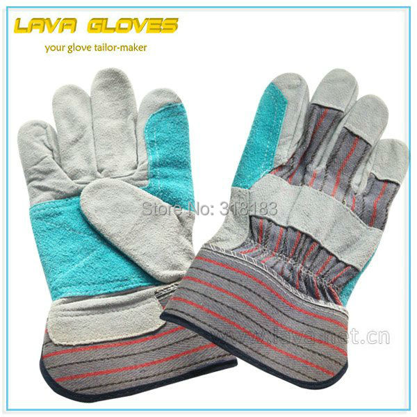 """CE approved 10.5"""" double palm leather working gloves(China (Mainland))"""