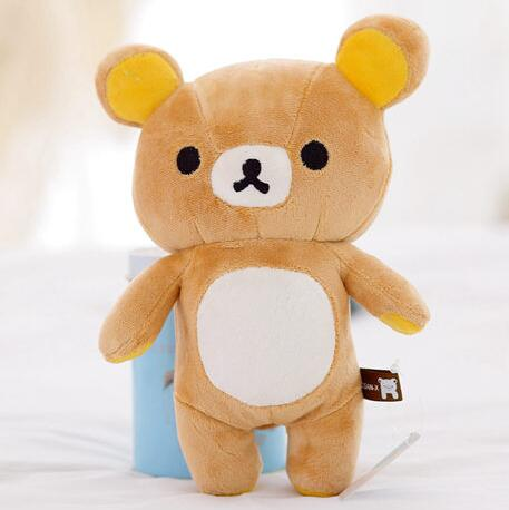 "1pcs 8"" mini lovely New brown San-x Rilakkuma Relax Bear Cute Soft 20cm plush stuffed toy(China (Mainland))"