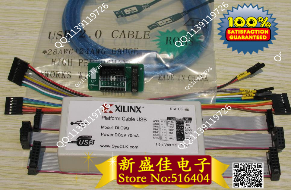 produto New 1 set. Xilinx Platform USB download cable for Jtag programmer FPGA CPLD C-Mod CY7C68013 XC2C256 program