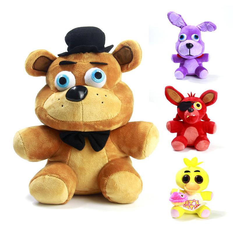 """26cm Five Nights at Freddy's FNAF 4 Freddy Bonnie Chica Foxy Stuffed Plush Doll Toy 10""""(China (Mainland))"""