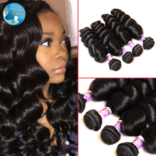 fast shipping 7a peruvian virgin loose wave human hair natural black color #1b peruvian virgin hair loose wave hair extension